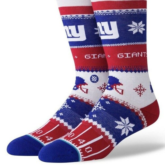 STANCE x NFL New York Giants Holiday Sweater Crew